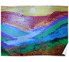 landscape-sunrise on the valley Poster
