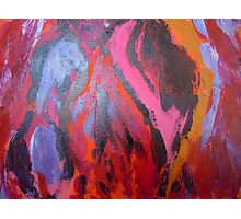 abstract-red cave Photographic Print