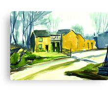 Cockpit Cottages, Derbyshire Canvas Print