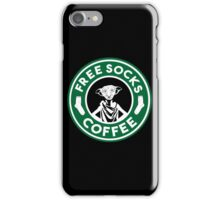 Free Socks Coffee iPhone Case/Skin