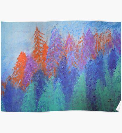 landscape-color palette  Poster