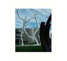 Dancing City Sculptures Art Print