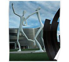 Dancing City Sculptures Poster