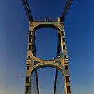 Pont Rouerge - La Reole, France by Sandra Cockayne