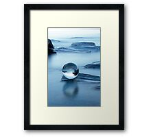 Blue chrystal Framed Print