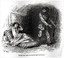 Achille Sirouy Mark Twain Les Aventures de Huck Huckleberry Finn illustration p043 Poster