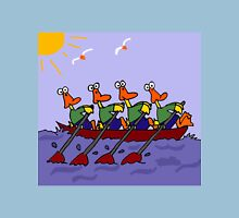 Cool Ducks in a Row Boat Cartoon Unisex T-Shirt