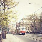 red tram ii, prague by Natasha Calhoun