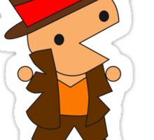 Layton and the Puzzles T-Shirt Unisex Sticker