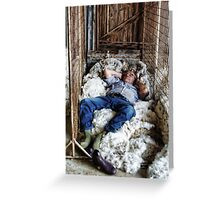 WOOL CLASSER SNOOZE Greeting Card