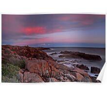 Sunset on Boat Harbour Poster