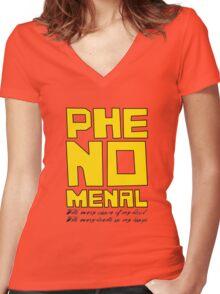 Phenomenal Women's Fitted V-Neck T-Shirt