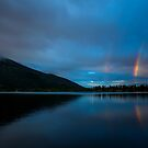 Rainbow at Grand Lake by Rob Lavoie