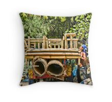 Cidomo horse carts of the Gili Islands 3 Throw Pillow