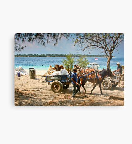 Cidomo horse carts of the Gili Islands 4 Metal Print