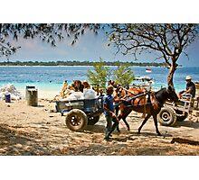 Cidomo horse carts of the Gili Islands 4 Photographic Print