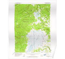 USGS Topo Map Oregon Sycan Marsh 282939 1960 62500 Poster