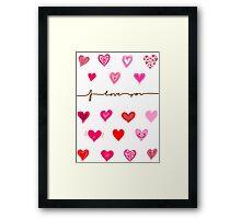 Love Card Framed Print