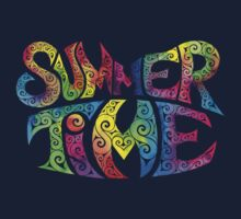Swirly Summer Time Kids Tee