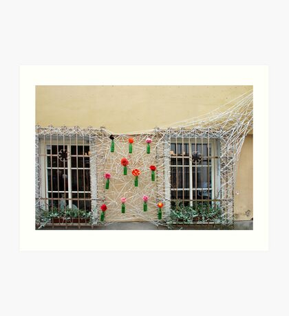 Wall decoration in Vilnius - Lithuania Art Print