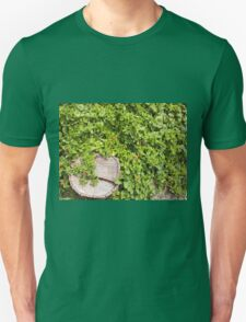 Top view of a tree stump closeup on a bed T-Shirt