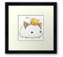 Anime animals. Framed Print