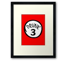 Drunk 3 Framed Print