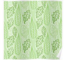 Autumn Leaves (Green) Poster