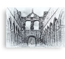 The Ruins of Kirkstall Abbey Metal Print