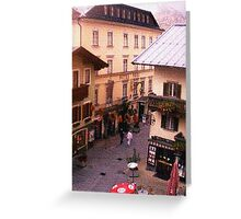 """Quiet Street - Lofer, Salzburg, Austria"" Greeting Card"
