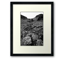 Rock and Hard Place Framed Print