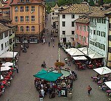 """Streetscape - Caldaro al Lago, Veneto, Italy"" by Michelle Lee Willsmore"