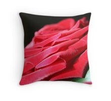 Red velvet rose petals  Throw Pillow