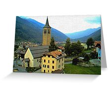 """Church - Vicenza, Ossana, Italy"" Greeting Card"
