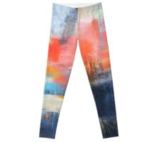 Blue Red Abstract  Leggings