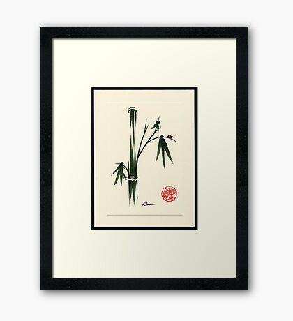 """She Walks in Beauty"" Huntington Gardens Plein Air Ladybug Framed Print"