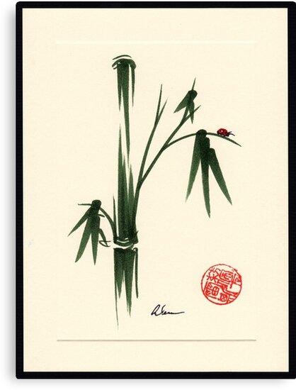 """She Walks in Beauty"" Huntington Gardens Plein Air Ladybug by Rebecca Rees"