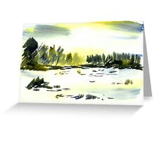 Snowscape, Derbyshire Greeting Card