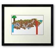 Minecraft Illustration Framed Print