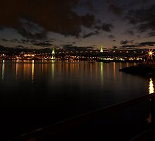 MacDonald Bridge in the Gloaming by blockedmuse