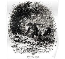 Achille Sirouy Mark Twain Les Aventures de Huck Huckleberry Finn illustration p081 Poster