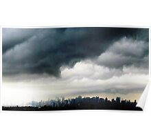 Stormy city  Poster