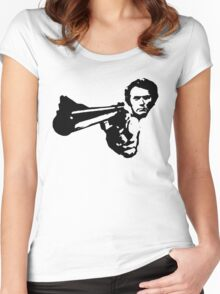 a dirty harry t-shirt Women's Fitted Scoop T-Shirt