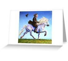Alan Rickman Rides Again Greeting Card