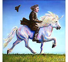 Alan Rickman Rides Again Photographic Print