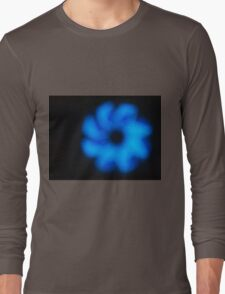 Blurred and out of focus image of an abstract blue shapes Long Sleeve T-Shirt
