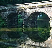 Bridge At Beautiful Stourhead, Wiltshire by lynn carter
