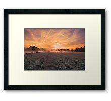 Autumn sunrise at Mapledurham Framed Print