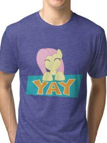 Fluttershy Yay Tri-blend T-Shirt
