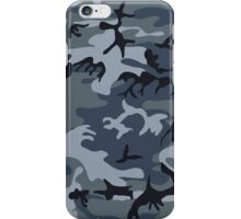 Navy Blue Grey Camo Camouflage iPhone Case/Skin
